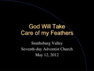 God Will Take  Care of my Feathers