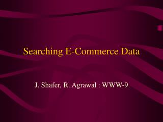 Searching E-Commerce Data