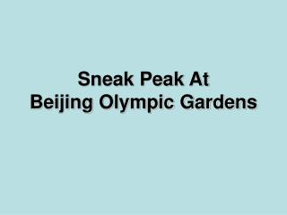 Sneak Peak At BeijingOlympic Gardens