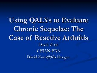 Using QALYs to Evaluate Chronic Sequelae: The Case of Reactive Arthritis