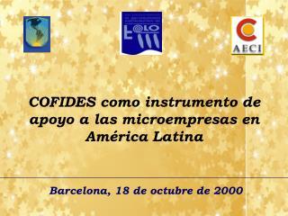 COFIDES como instrumento de apoyo a las microempresas en América Latina