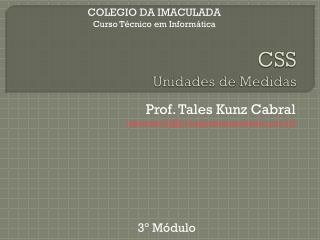 CSS Unidades de Medidas