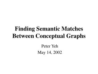 Finding Semantic Matches Between Conceptual Graphs