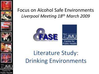 Literature Study: Drinking Environments