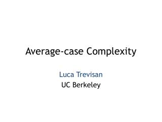 Average-case Complexity