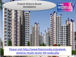 prateek wisteria resale 991000645