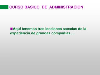 CURSO BASICO  DE  ADMINISTRACION
