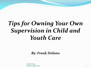 Supervision: A Professional and Ethical Responsibility