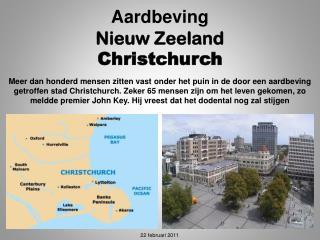Aardbeving Nieuw Zeeland Christchurch