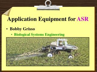 Application Equipment for  ASR