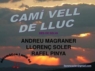 DES DE SELVA ANDREU MAGRANER LLORENÇ SOLER RAFEL PINYA