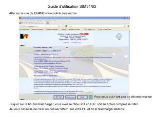 Guide d'utilisation SIM31/63