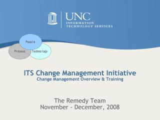 ITS  Change  Management Initiative  Change  Management Overview & Training