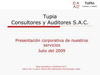Tupia  Consultores y Auditores S.A.C.