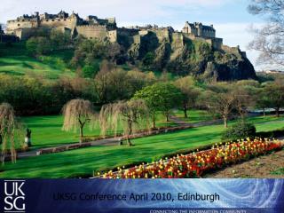 UKSG Conference April 2010, Edinburgh