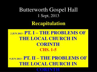 Butterworth Gospel Hall 1 Sept, 2013