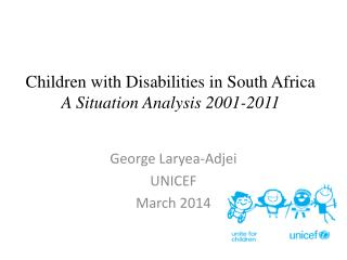 Children with Disabilities in South Africa A Situation Analysis 2001-2011