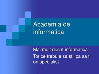 Academia de informatica
