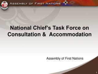 National Chief's Task Force on Consultation &  Accommodation
