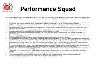 Performance Squad
