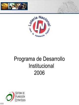 Programa de Desarrollo Institucional 2006