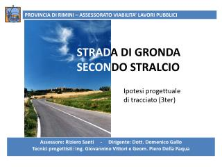 STRAD A DI GRONDA SECON DO STRALCIO