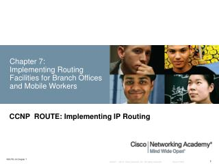 Chapter 7:  Implementing Routing Facilities for Branch Offices and Mobile Workers