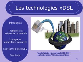 Les technologies xDSL