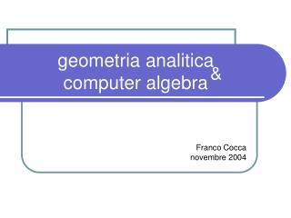 geometria analitica computer algebra