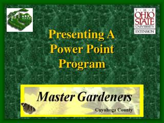 Presenting A Power Point Program