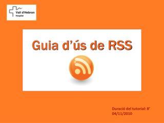Guia d'ús de RSS