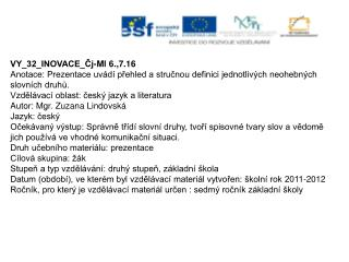 VY_32_INOVACE_Čj-Ml 6.,7.16
