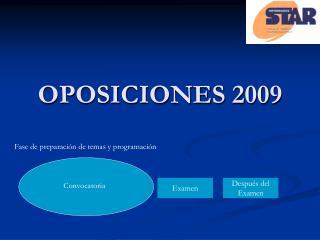 OPOSICIONES 2009