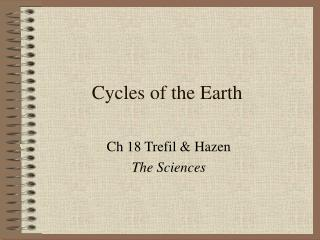 Cycles of the Earth