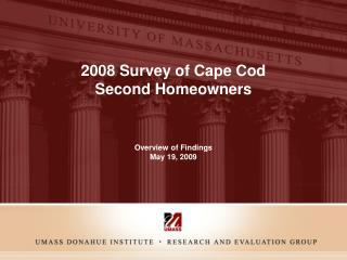 2008 Survey of Cape Cod