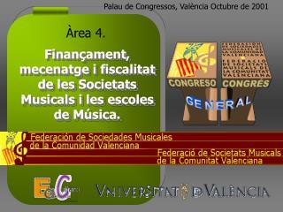 Finançament, mecenatge i fiscalitat de les Societats Musicals i les escoles de Música.