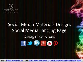 Social Media Materials and Landing Page Design services