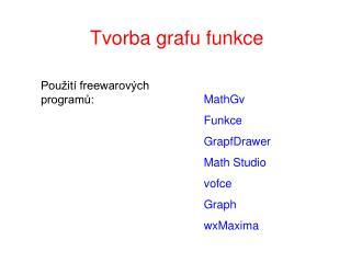 Tvorba grafu funkce