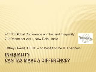 Inequality:  can tax make a difference