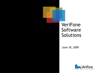 VeriFone Software Solutions
