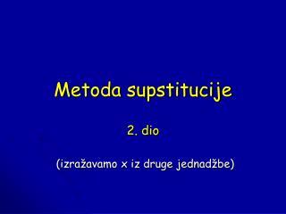 Metoda supstitucije
