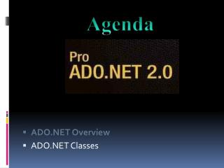 ADO.NET Overview ADO.NET Classes