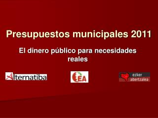Presupuestos municipales 2011
