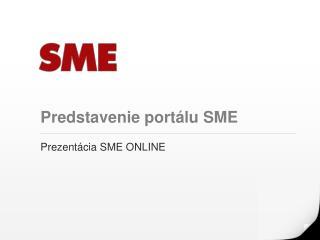 Predstavenie portálu SME