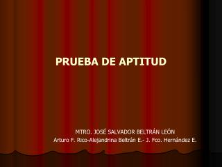 PRUEBA DE APTITUD