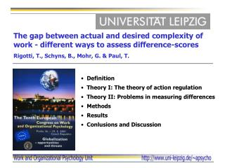 The gap between actual and desired complexity of work - different ways to assess difference-scores