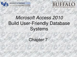 Microsoft Access 2010 Build User-Friendly Database Systems