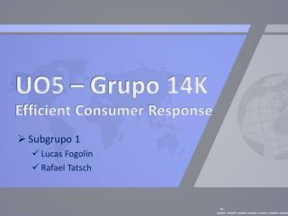 UO5 – Grupo 14K Efficient Consumer  Response