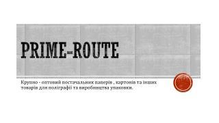 PRIME-ROUTE