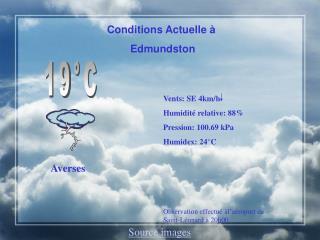 Conditions Actuelle à  Edmundston
